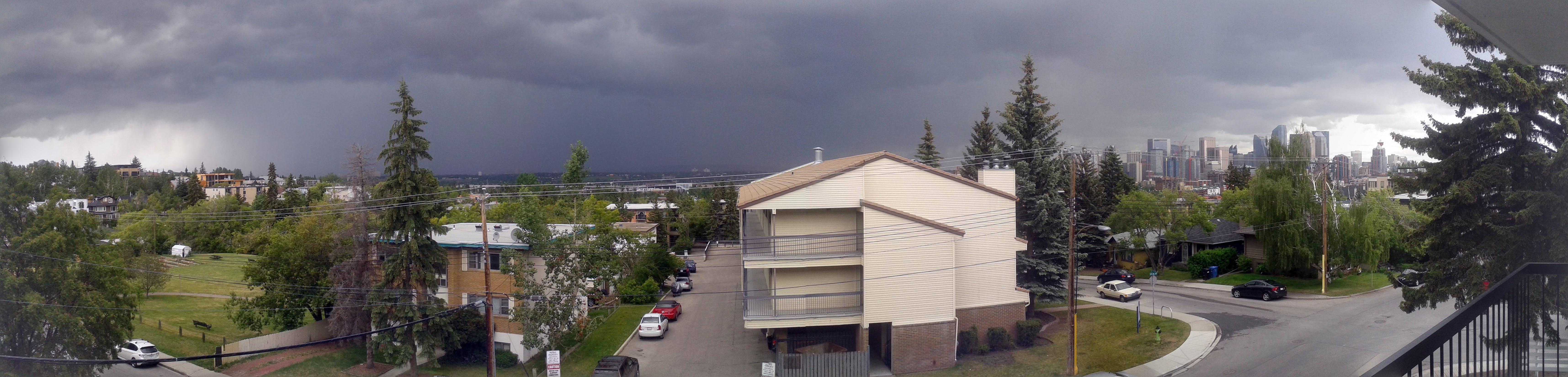 Bankview, Storm, from the balcony